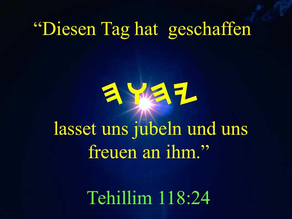 Ach HWHY Unser Yahuah, wie prangt Dein Name auf der ganzen Erde. Tehillim 8:1