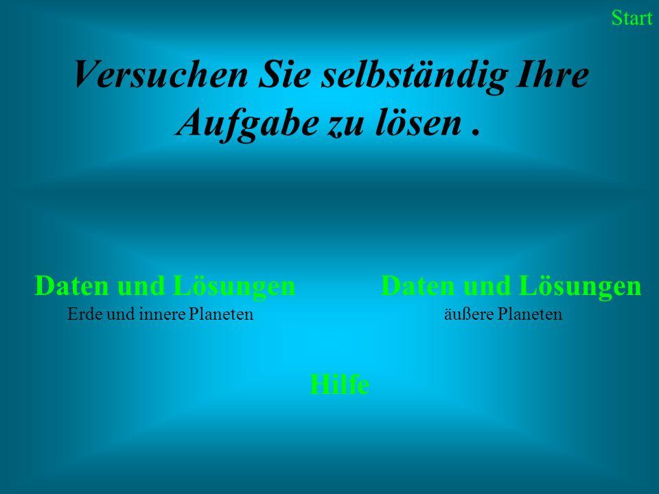 Äquatordurchmesser: 0,95 Erddurchmesser Masse: 0,82 Erdmassen Mittlere Dichte: 5,24 g/cm³ Rotation: 243,1 Tage Entfernung von der Sonne: min.