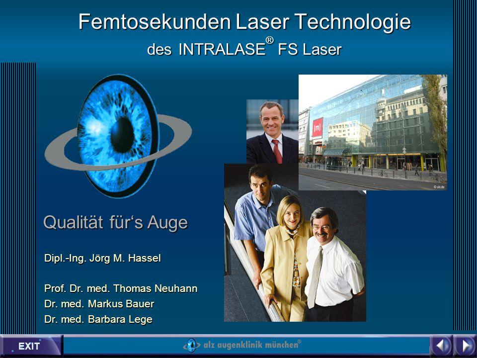 EXIT Qualität fürs Auge Femtosekunden Laser Technologie des INTRALASE ® FS Laser Dipl.-Ing.