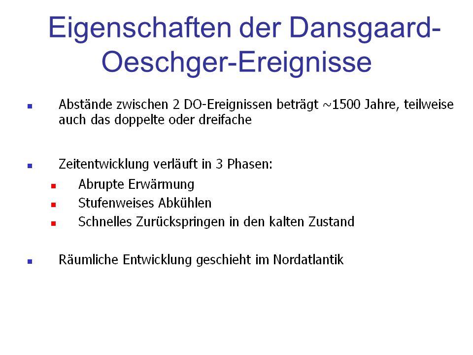 Eigenschaften der Dansgaard- Oeschger-Ereignisse