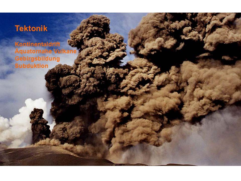 Tektonik Kontinentaldrift Äquatornahe Vulkane Gebirgsbildung Subduktion