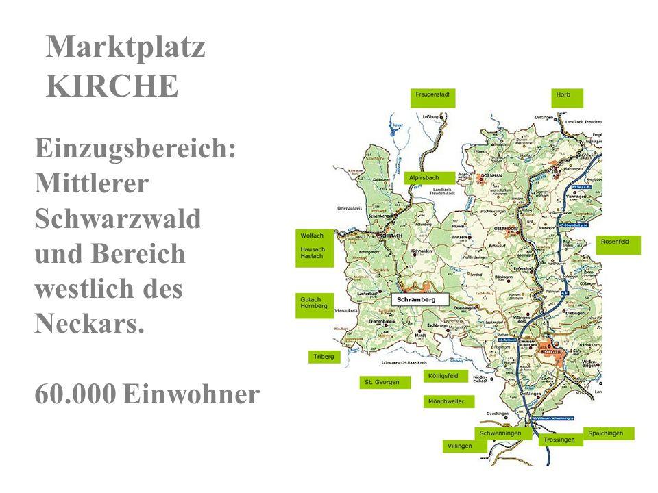 Einzugsbereich: Mittlerer Schwarzwald und Bereich westlich des Neckars.