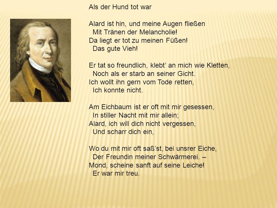 2. Der Anti-Klopstock: Matthias Claudius (1740–1815), der Wandsbecker Bote Klopstock: Willkommen, o silberner Mond, schöner, stiller Gefährt der Nacht