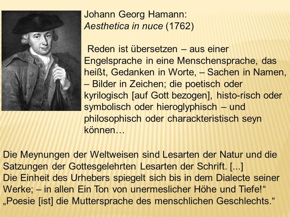 Heinrich Wilhelm von Gerstenberg, Schleswigsche Litteraturbriefe (Briefe über die Merkwürdigkeiten der Literatur, Schleswig) 1766: Ich glaube, dass nu