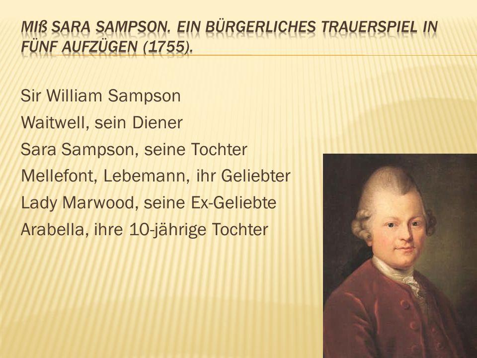 Lessing verfasste in der Hamburgischen Dramaturgie seine Gedanken zur Dramentheorie. Er brachte die Entwicklung des bürgerlichen Dramas weit voran, mi