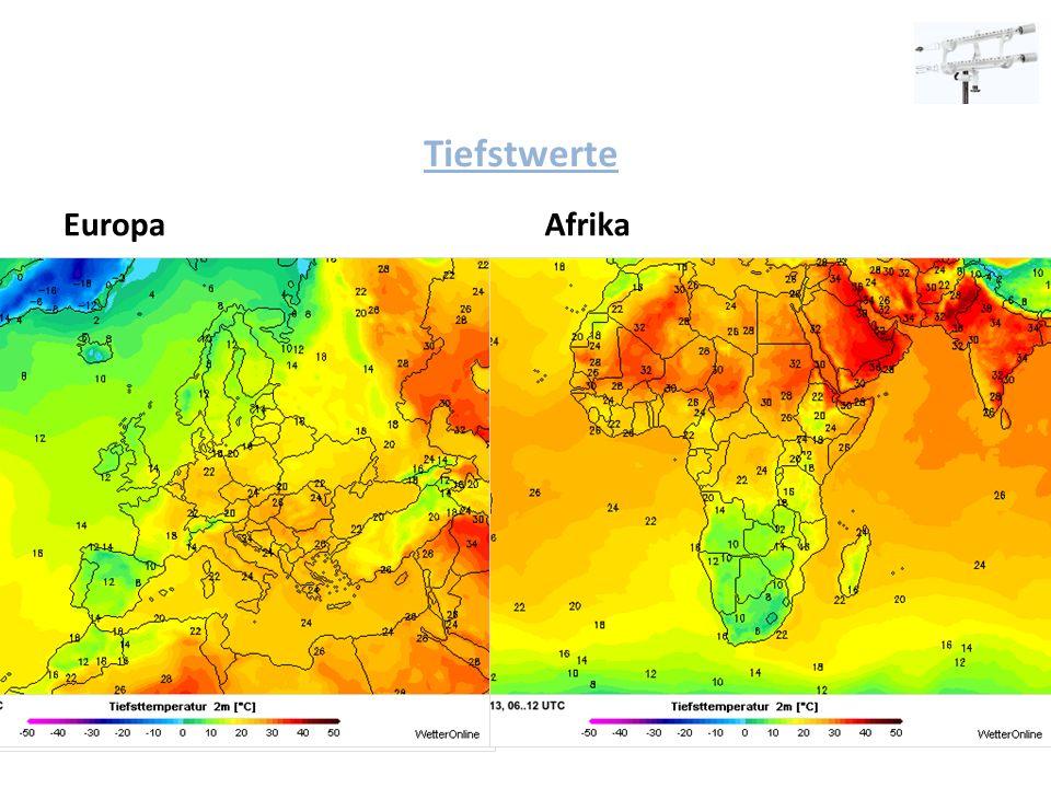 Tiefstwerte EuropaAfrika