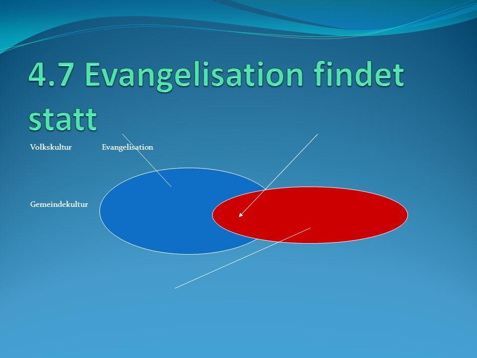 Volkskultur Evangelisation Gemeindekultur