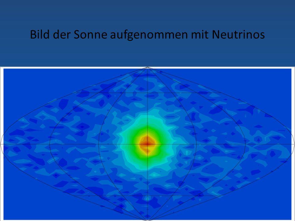 Bild der Sonne aufgenommen mit Neutrinos