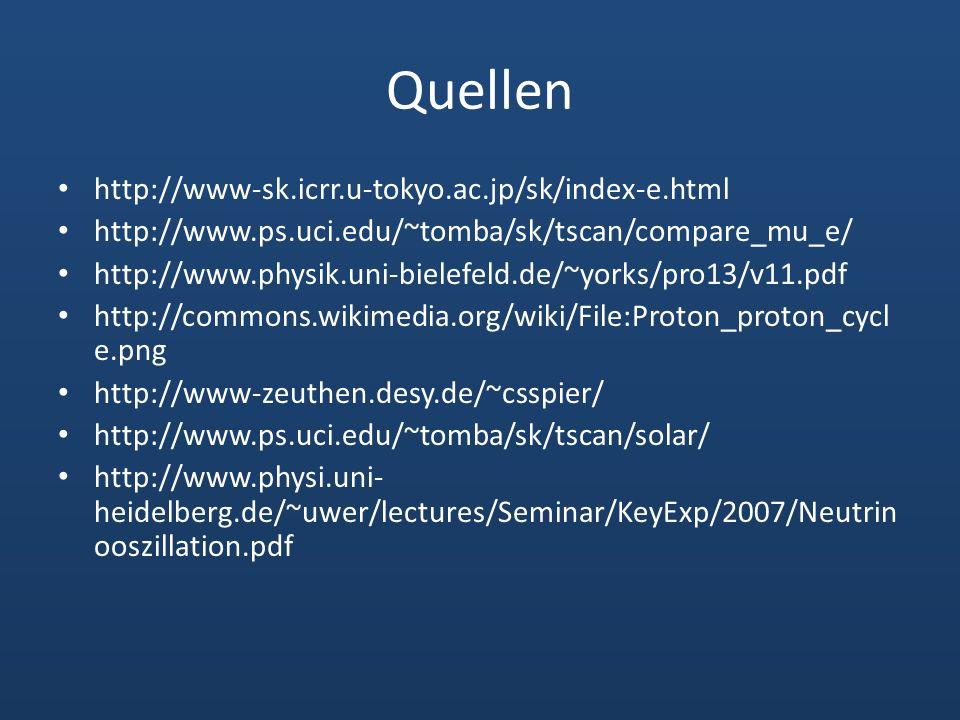 Quellen http://www-sk.icrr.u-tokyo.ac.jp/sk/index-e.html http://www.ps.uci.edu/~tomba/sk/tscan/compare_mu_e/ http://www.physik.uni-bielefeld.de/~yorks