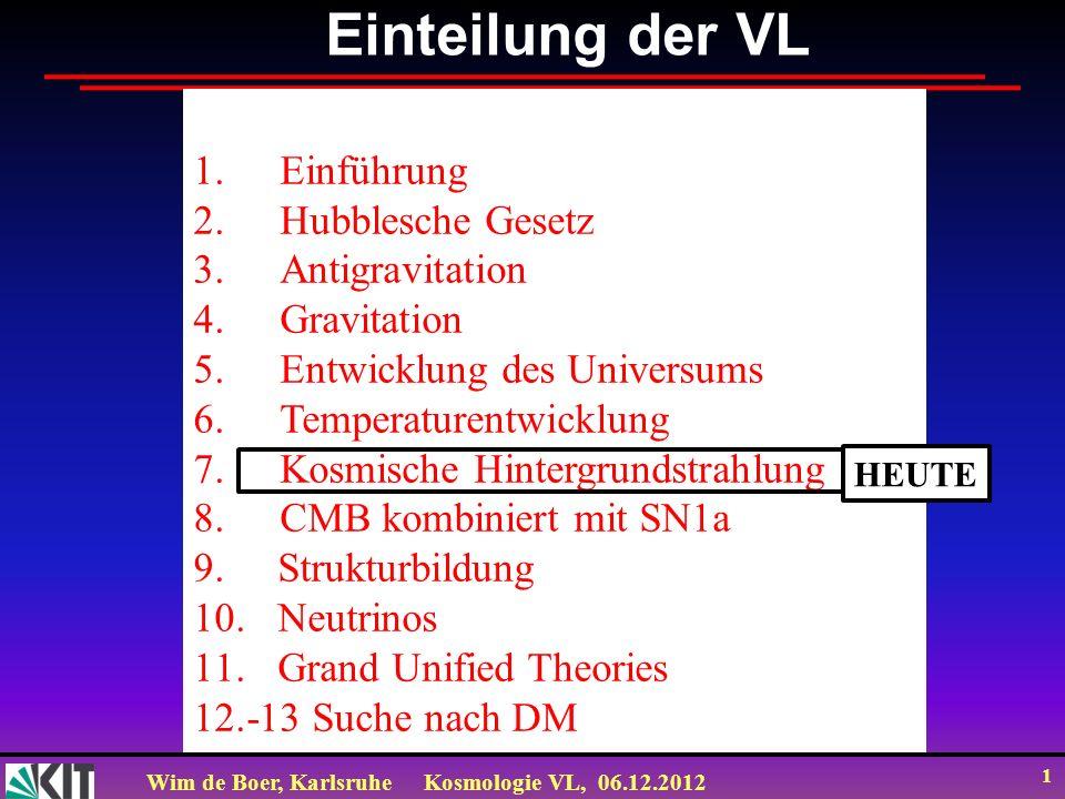 Wim de Boer, KarlsruheKosmologie VL, 06.12.2012 31 Akustische Wellen SIND Dichteschwankungen Modern Flute