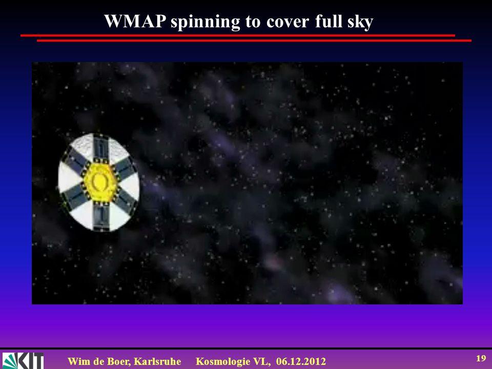 Wim de Boer, KarlsruheKosmologie VL, 06.12.2012 18 WMAP Orbit