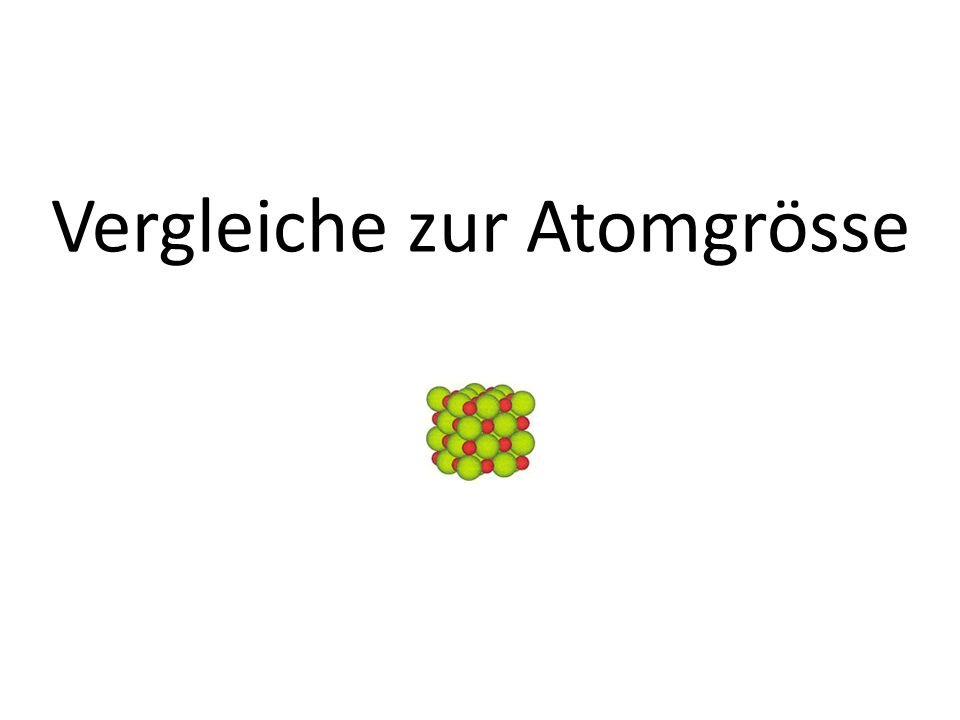 Ein Atom ist so klein…