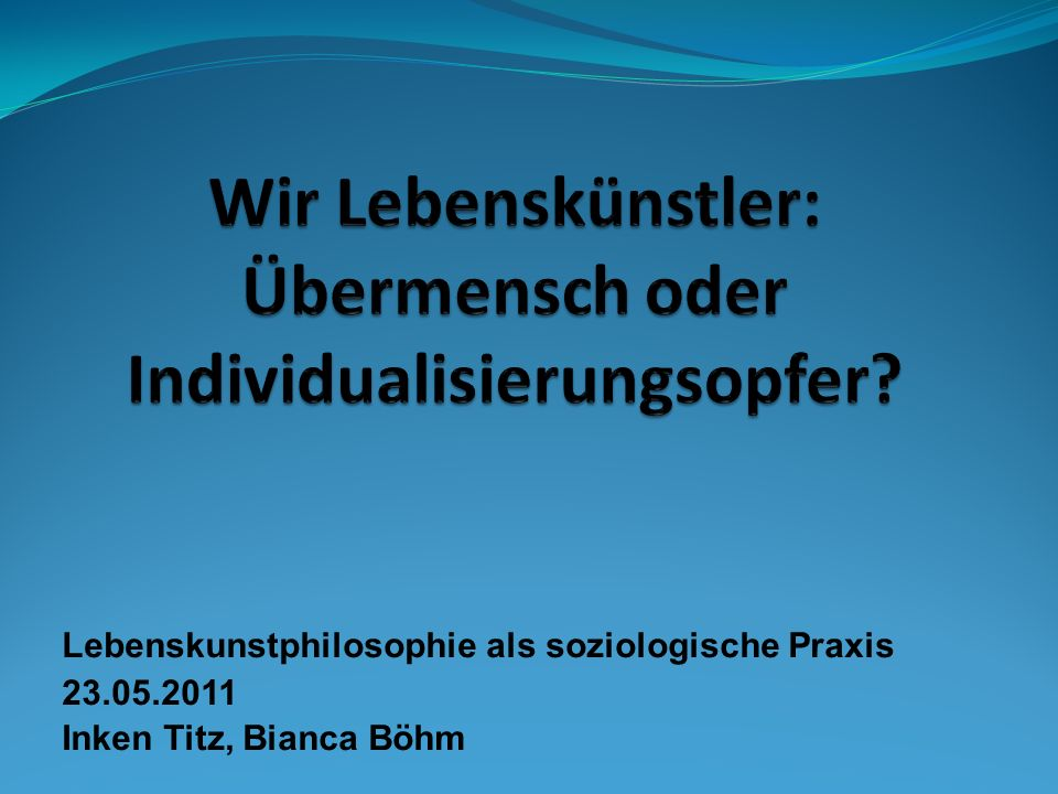 Individualisierung http://www.youtube.com/watch?v=KLWsV1hewYA&feat ure=related