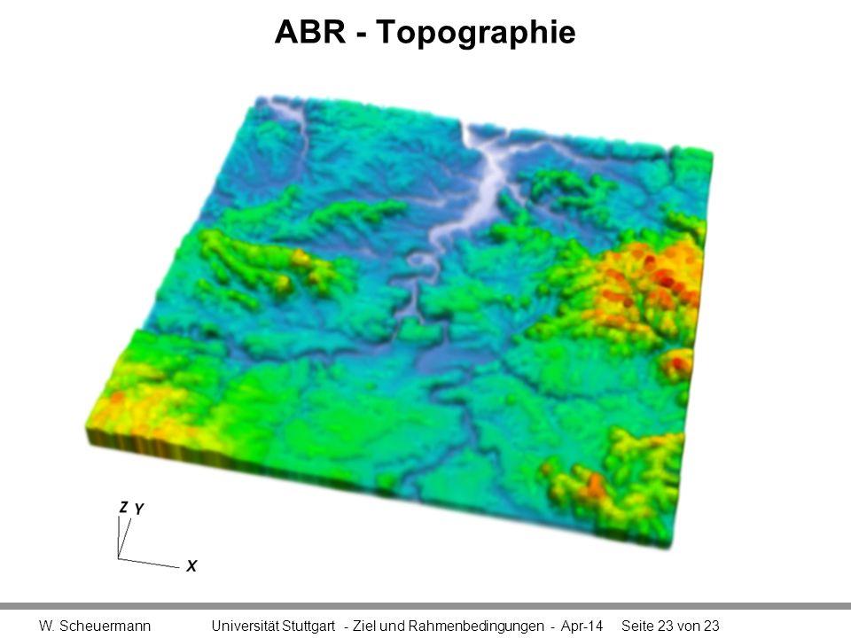 ABR - Topographie W.