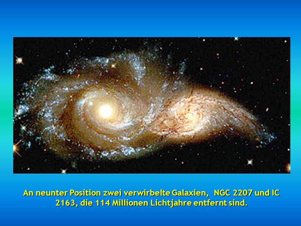 An achter Stelle ein wunderschönes Bild, genannt Sternennacht