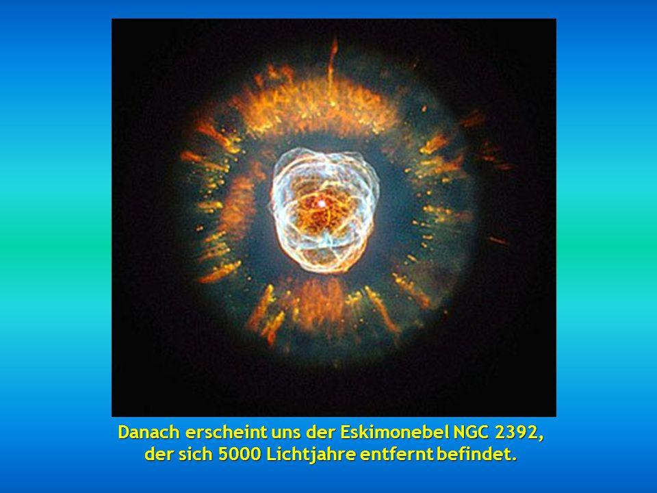 Dann haben wir die fabelhaften Nebula MZ3, auch Ameisennebel genannt, wegen der im Teleskop präsentierten Optik, zwischen 3000 und 6000 Lichtjahre ent