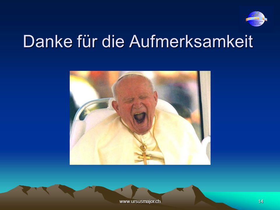 www.ursusmajor.ch14 Danke für die Aufmerksamkeit