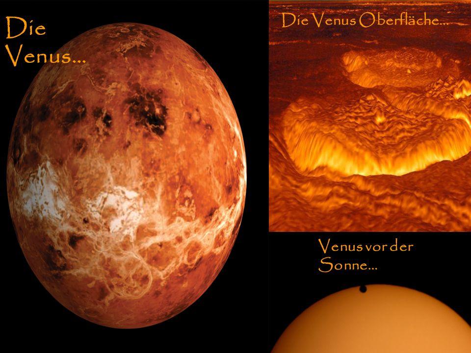 VenusOberfläche und Vergleich zur Sonne Die Venus Die Venus Oberfläche… Venus vor der Sonne… Die Venus…