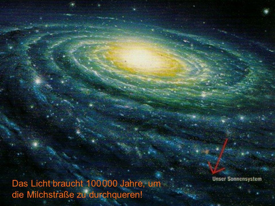 Unser Sonnensystem in der Milchstraße Das Licht braucht 100 000 Jahre, um die Milchstraße zu durchqueren!