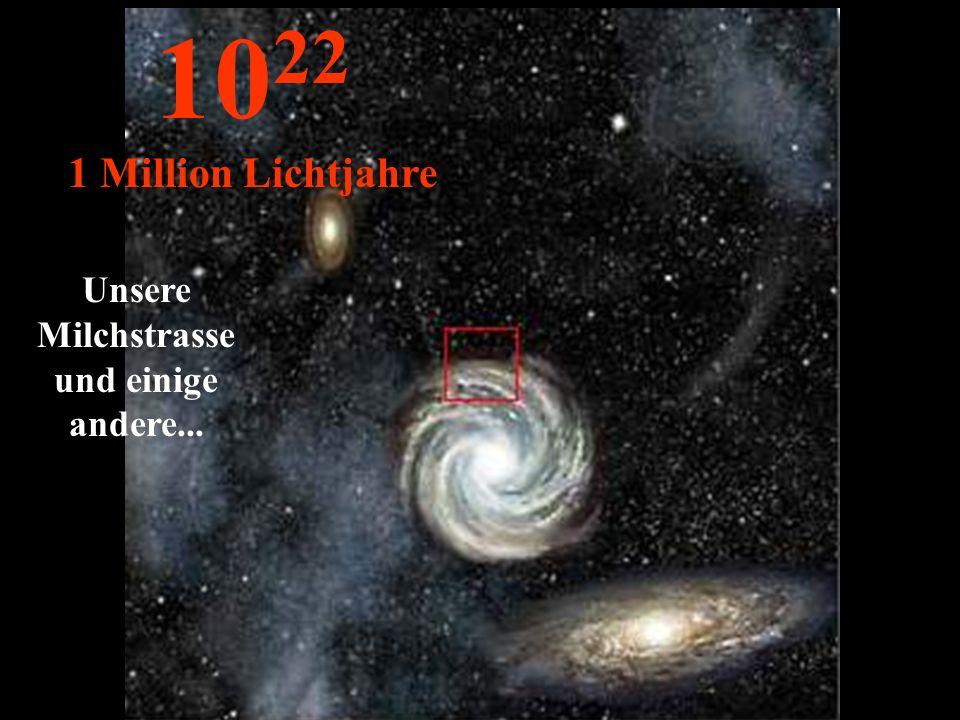 Unsere Milchstrasse und einige andere... 10 22 1 Million Lichtjahre