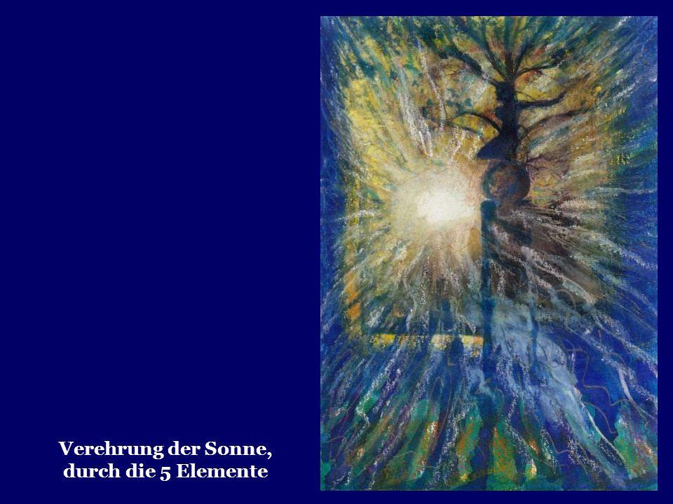 Vom Avatar der Synthese, der überall gegenwärtig ist, möge seine Energie in alle Naturreiche herabströmen. Möge er die Erde zu den Königen der Schönhe