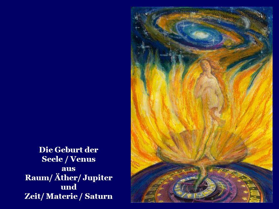 Die Geburt der Seele / Venus aus Raum/ Äther/ Jupiter und Zeit/ Materie / Saturn