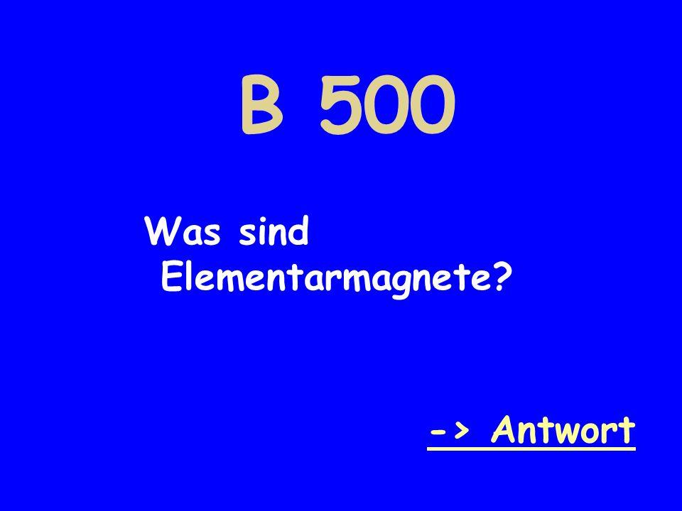 B 500 Was sind Elementarmagnete? -> Antwort