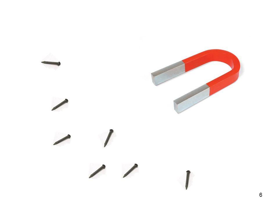 7 Gut zu wissen Magnete besitzen unsichtbare Kräfte, die Eisen (Nickel, Kobalt) anziehen.