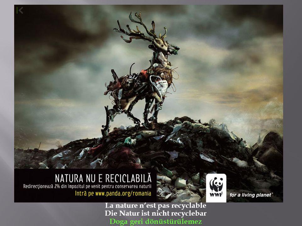 La nature nest pas recyclable Die Natur ist nicht recyclebar Doga geri dönüstürülemez