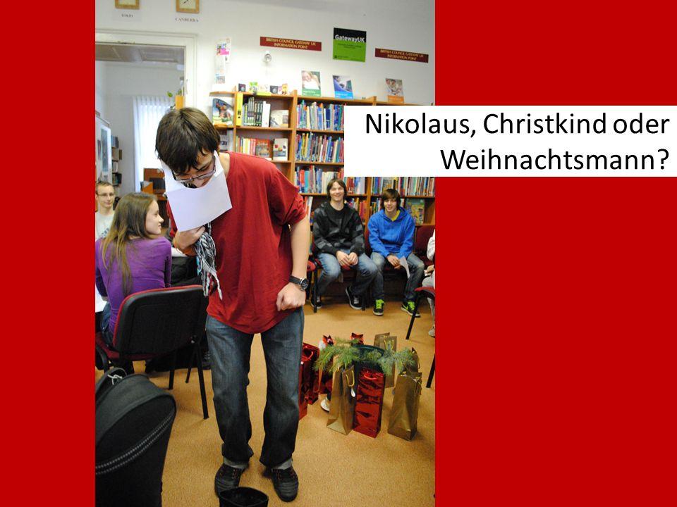 Nikolaus, Christkind oder Weihnachtsmann?
