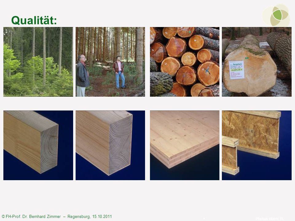 Qualität: Photos oben: B. Zimmer; Photo unten: HAF