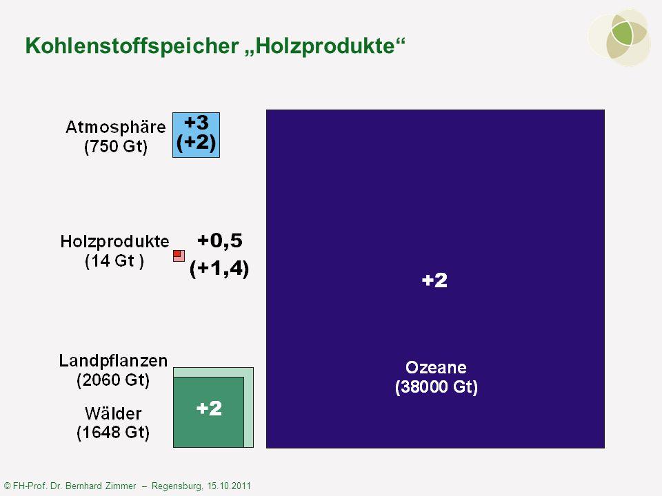 © FH-Prof. Dr. Bernhard Zimmer – Regensburg, 15.10.2011 Kohlenstoffspeicher Holzprodukte