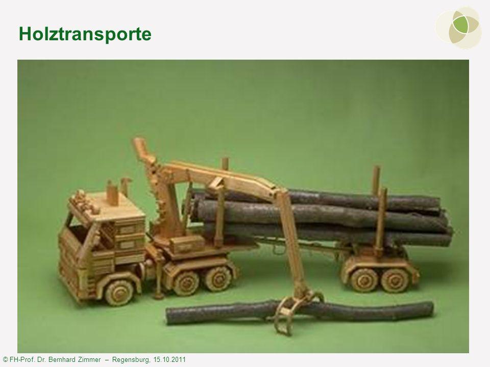 © FH-Prof. Dr. Bernhard Zimmer – Regensburg, 15.10.2011 Holztransporte