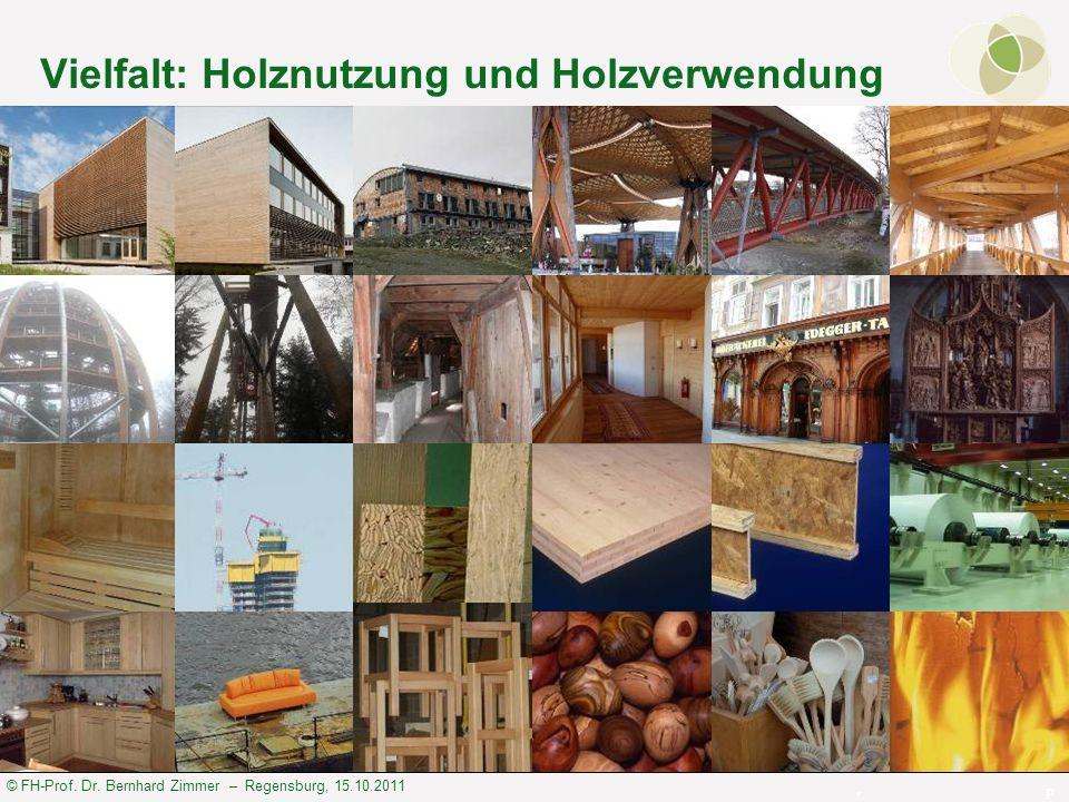 © FH-Prof. Dr. Bernhard Zimmer – Regensburg, 15.10.2011 Vielfalt: Holznutzung und Holzverwendung P h o t o s : B. Z i m m e r