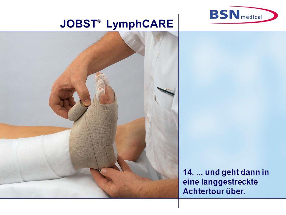 JOBST ® LymphCARE 14.... und geht dann in eine langgestreckte Achtertour über.