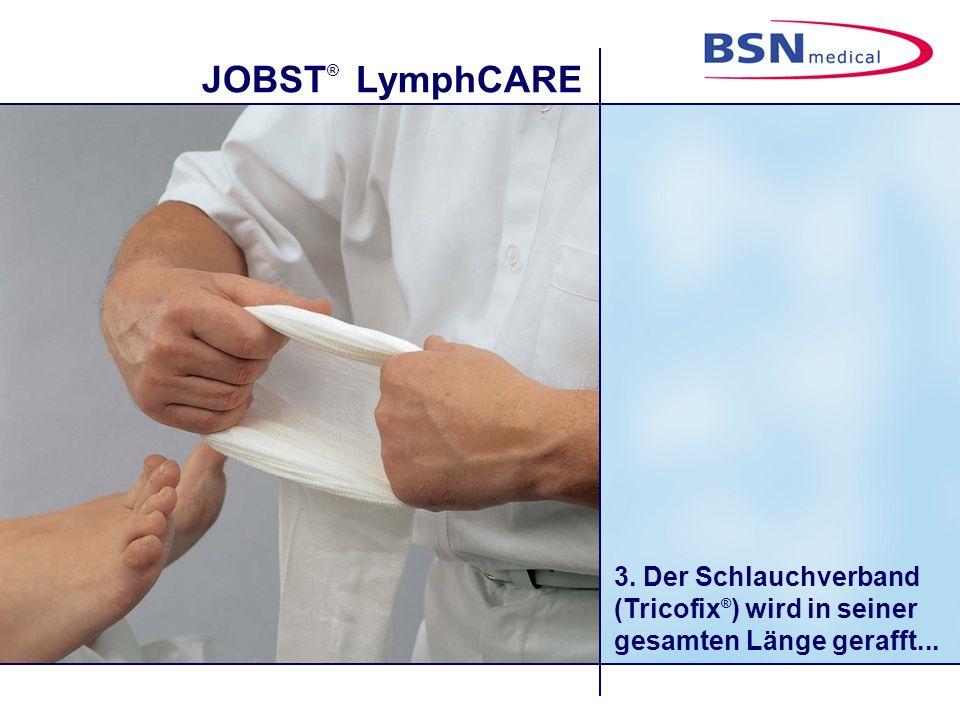 JOBST ® LymphCARE 4....und bis zur Leiste gezogen.