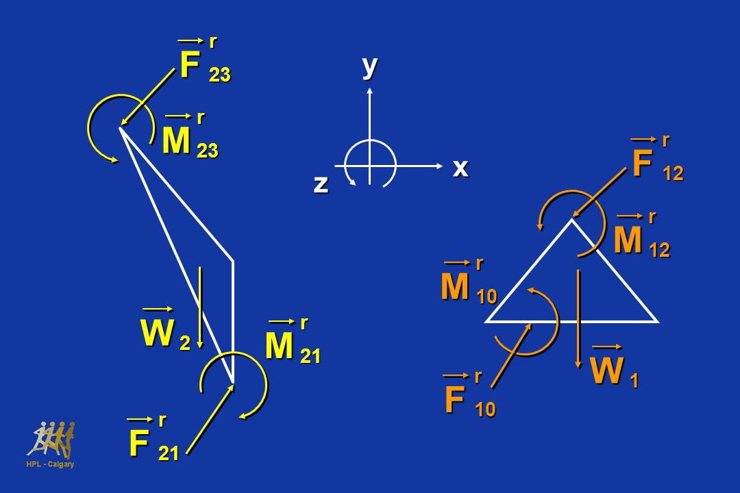 yx z M r23 Fr23W 2 M r21 F r21 W 1 Fr12M r12 F r10 M r10