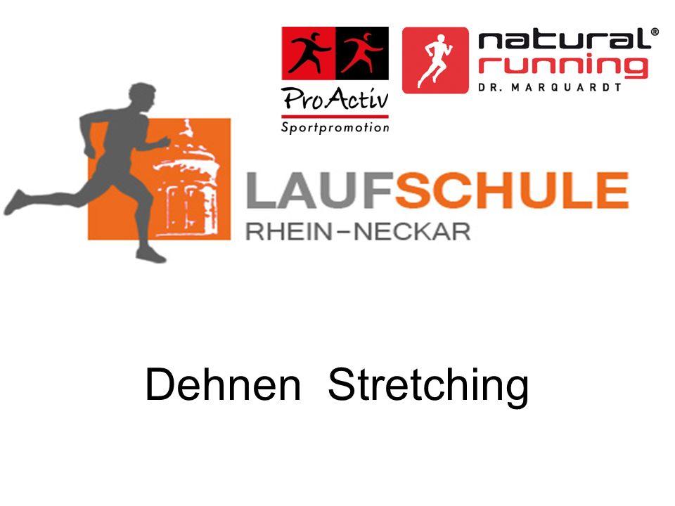 Dehnen/Stretchen im Gesamtkonzept Die Balance der Muskelspannung lässt sich also mit Kräftigungsübungen und mit Dehnungsübungen wieder herstellen.