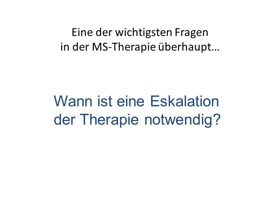 Eine der wichtigsten Fragen in der MS-Therapie überhaupt… Wann ist eine Eskalation der Therapie notwendig?