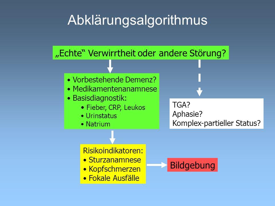 Abklärungsalgorithmus Echte Verwirrtheit oder andere Störung.