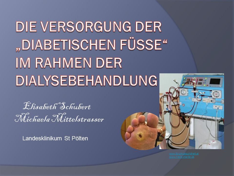 www.forumgesundheit.at www.niere.charite.de Elisabeth Schubert Michaela Mittelstrasser Landesklinikum St Pölten