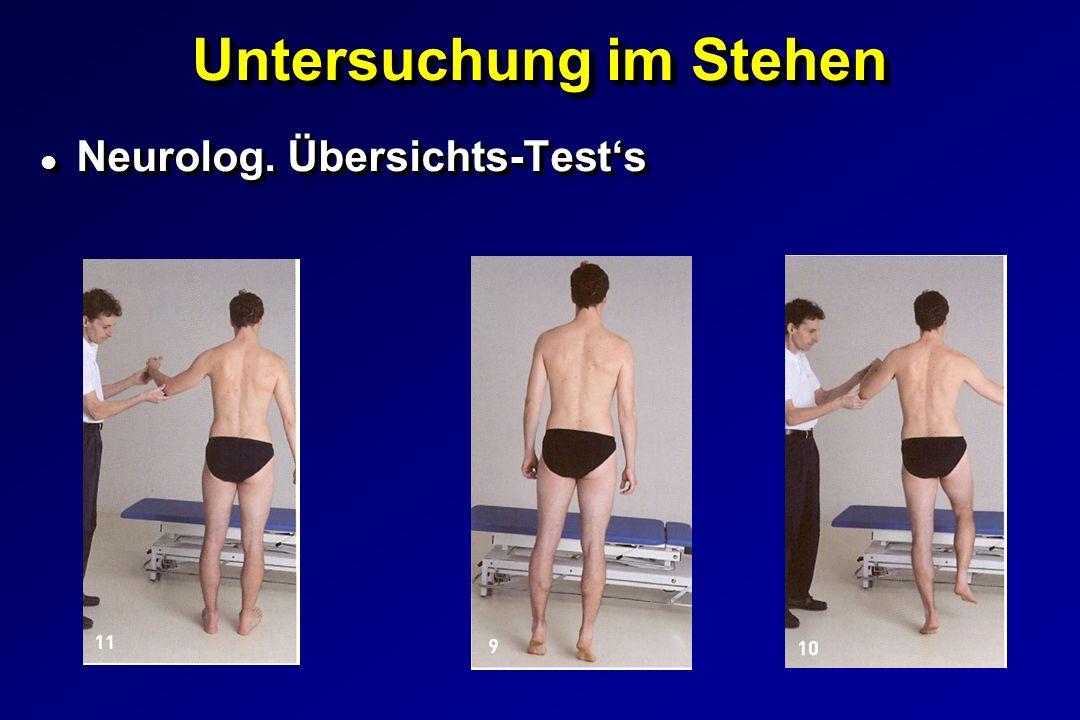 Untersuchung im Stehen l Neurolog. Übersichts-Tests