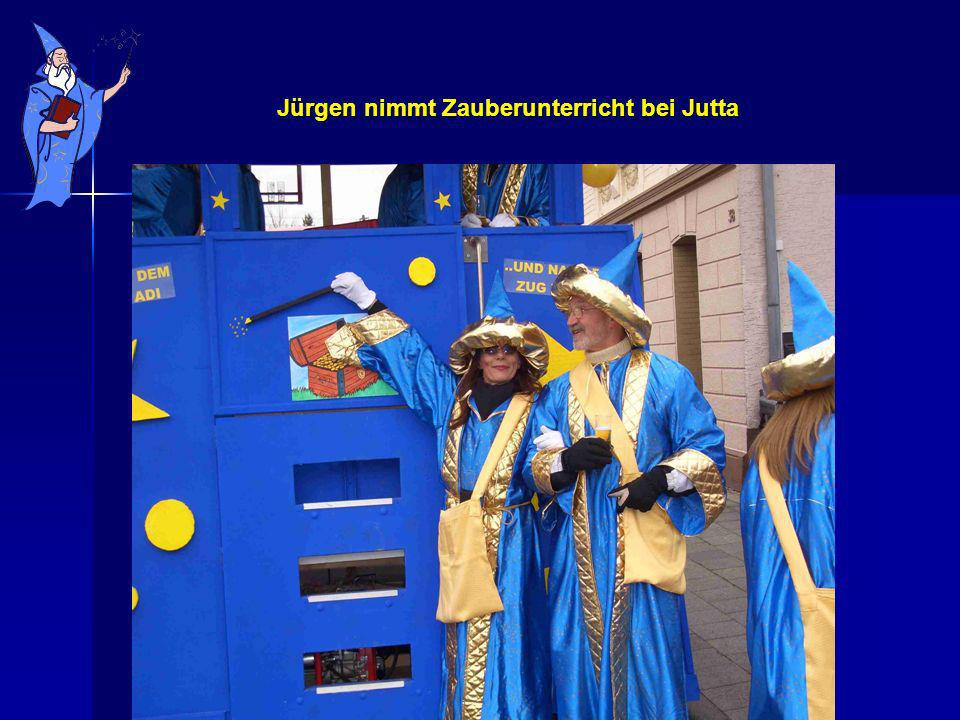 Jürgen nimmt Zauberunterricht bei Jutta