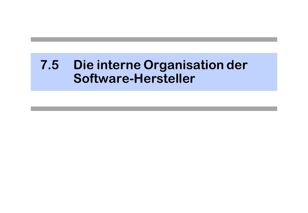 7.5Die interne Organisation der Software-Hersteller