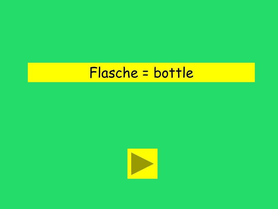 Ich brauche eine Flasche Wasser. drink bottlecase