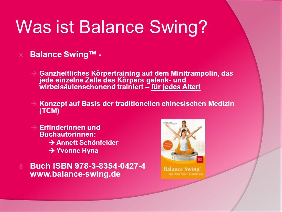 Was ist Balance Swing? Balance Swing - Ganzheitliches Körpertraining auf dem Minitrampolin, das jede einzelne Zelle des Körpers gelenk- und wirbelsäul