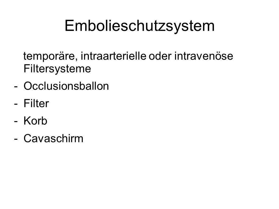 Embolieschutzsystem temporäre, intraarterielle oder intravenöse Filtersysteme -Occlusionsballon -Filter -Korb -Cavaschirm