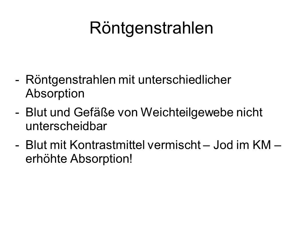 CT - Angio -Pat.-Aufklärung und Lagerung -KM anschließen.