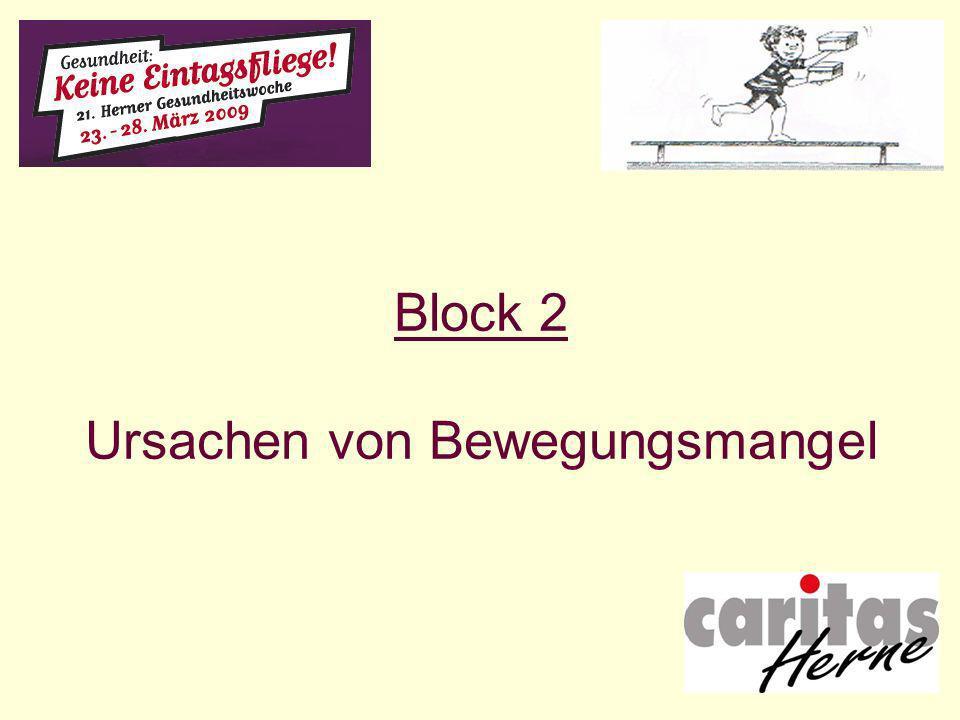 Block 2 Ursachen von Bewegungsmangel