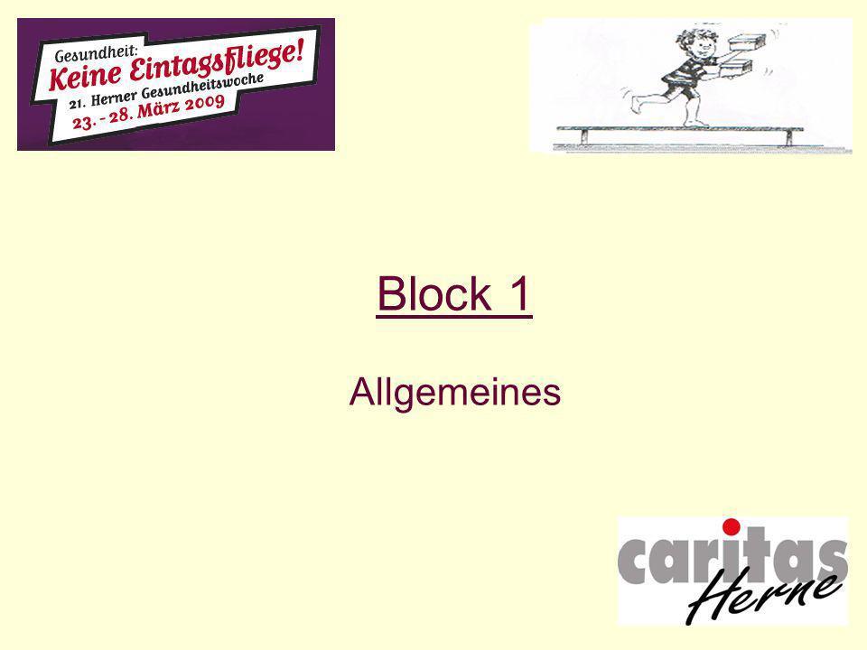 Block 1 Allgemeines
